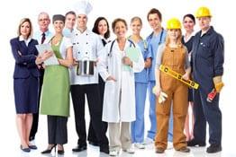 Handwerker und kaufmännische Berufe